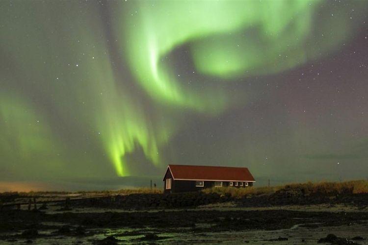 aurore boréale en Island