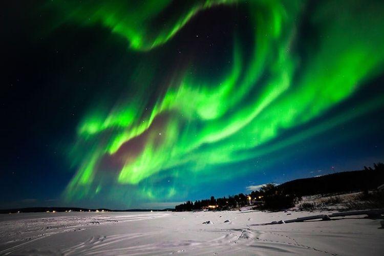 aurores boréales , observation